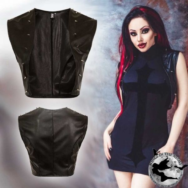 NECESSARY EVIL Nemain Gothic Studded Bolero